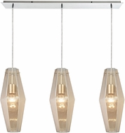 ELK 31215-3LP Pelham Contemporary Polished Chrome Multi Drop Lighting Fixture