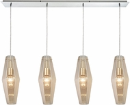 ELK 31215-4LP Pelham Modern Polished Chrome Multi Pendant Lighting