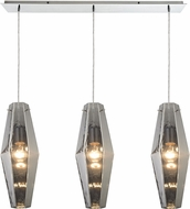 ELK 31217-3LP Pelham Contemporary Polished Chrome Multi Pendant Lighting Fixture