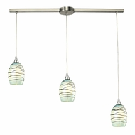 ELK 31348-3L-MN Vines Contemporary Satin Nickel Multi Pendant Light Fixture