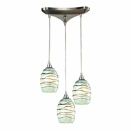 ELK 31348-3MN Vines Modern Satin Nickel Multi Pendant Lighting Fixture