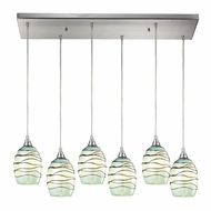 ELK 31348-6RC-MN Vines Modern Satin Nickel Multi Hanging Pendant Light