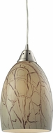 ELK 31376-1 Crackle Modern Satin Nickel Mini Hanging Pendant Light
