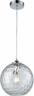 ELK 31380-1CLR Watersphere Modern Polished Chrome Mini Pendant Lighting Fixture
