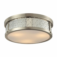 ELK 31422-3 Diamond Plate Brushed Nickel Overhead Lighting