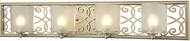 ELK 31429-4 Santa Monica Aged Silver Halogen 4-Light Bath Lighting Sconce