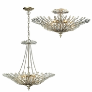 ELK 31432-6 Viva Aged Silver Flush Ceiling Light Fixture / Drop Ceiling Lighting