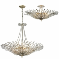 ELK 31433-8 Viva Aged Silver Flush Mount Ceiling Light Fixture / Ceiling Light Pendant