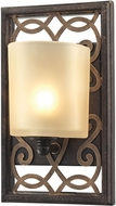 ELK 31436-1 Santa Monica Weathered Bronze/Gold Halogen Wall Light Sconce