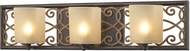 ELK 31438-3 Santa Monica Weathered Bronze/Gold Halogen 3-Light Bathroom Lighting