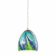 ELK 31445-1TB Colorwave Modern Satin Nickel Mini Pendant Light