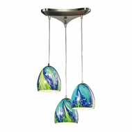 ELK 31445-3TB Colorwave Modern Satin Nickel Multi Hanging Light