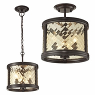 ELK 31451-3 Chandler Oil Rubbed Bronze Home Ceiling Lighting / Ceiling Pendant Light