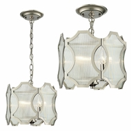 ELK 31456-3 Benicia Modern Polished Nickel Overhead Light Fixture / Drop Ceiling Light Fixture