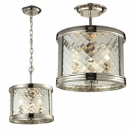 ELK 31461-3 Chandler Polished Nickel Overhead Lighting Fixture / Drop Lighting Fixture