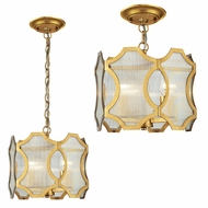 ELK 31466-3 Benicia Contemporary Antique Gold Leaf Ceiling Lighting / Pendant Lighting