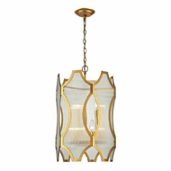 ELK 31467-3-3 Benicia Modern Antique Gold Leaf Foyer Lighting