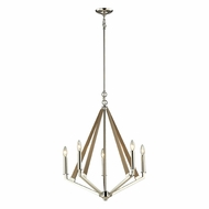 ELK 31475-5 Madera Contemporary Polished Nickel Mini Chandelier Lighting