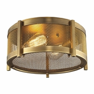ELK 31481-2 Rialto Aged Brass Ceiling Light