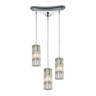 ELK 31486-3 Cynthia Polished Chrome Multi Lighting Pendant