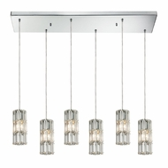ELK 31486-6RC Cynthia Polished Chrome Multi Hanging Lamp