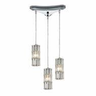 ELK 31487-3 Cynthia Polished Chrome Multi Pendant Light Fixture