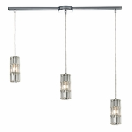 ELK 31487-3L Cynthia Polished Chrome Multi Pendant Lighting Fixture
