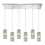ELK 31487-6RC Cynthia Polished Chrome Multi Hanging Pendant Lighting