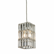 ELK 31488-1 Cynthia Polished Chrome Mini Hanging Pendant Light