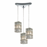 ELK 31488-3 Cynthia Polished Chrome Multi Pendant Hanging Light