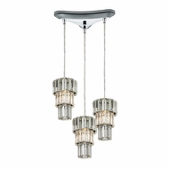 ELK 31489-3 Cynthia Polished Chrome Multi Ceiling Light Pendant