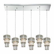 ELK 31489-6RC Cynthia Polished Chrome Multi Drop Ceiling Light Fixture
