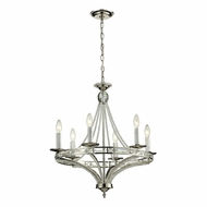 ELK 31501-6 Aubree Polished Nickel Mini Ceiling Chandelier
