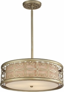 ELK 31523-3 Santa Monica Aged Silver Drum Hanging Light