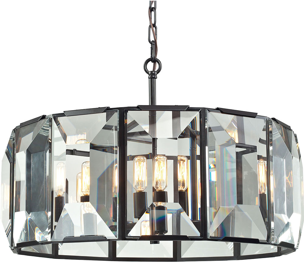 oil rubbed bronze pendant lights. ELK 31567-6 Garrett Oil Rubbed Bronze Drum Pendant Light. Loading Zoom Lights I
