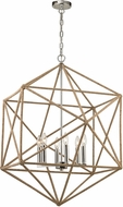 ELK 31586-6 Exitor Contemporary Polished Nickel Chandelier Lighting