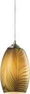 ELK 31600-1 Tidewaters Contemporary Satin Nickel Mini Hanging Lamp