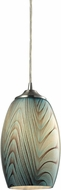 ELK 31620-1 Tidewaters Contemporary Satin Nickel Mini Pendant Hanging Light