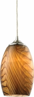 ELK 31630-1 Tidewaters Modern Satin Nickel Mini Ceiling Pendant Light