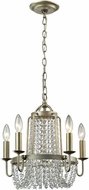 ELK 31805-5 Chandette Aged Silver Mini Chandelier Lighting