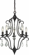 ELK 31814-5 Chandette Oil Rubbed Bronze Mini Chandelier Lamp