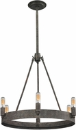ELK 31820-6 Lewisburg Contemporary Malted Rust Mini Ceiling Chandelier