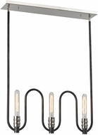 ELK 31904-3 Continuum Contemporary Silvered Graphite Polished Nickel Island Lighting