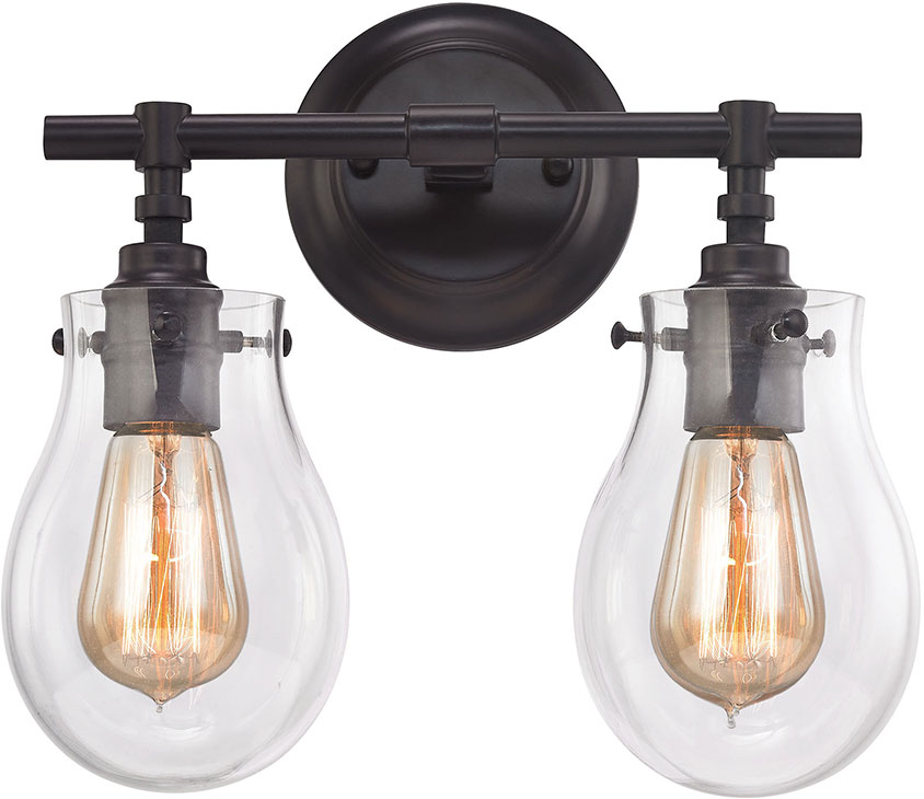 Bathroom Vanity Lights In Bronze elk 31931-2 jaelyn contemporary oil rubbed bronze 2-light bathroom