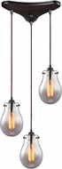 ELK 31935-3 Jaelyn Contemporary Oil Rubbed Bronze Multi Drop Lighting Fixture