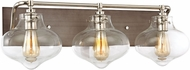 ELK 31942-3 Kelsey Modern Weathered Zinc Polished Nickel 3-Light Bathroom Sconce Lighting