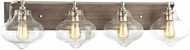 ELK 31943-4 Kelsey Contemporary Weathered Zinc Polished Nickel 4-Light Bath Lighting Sconce
