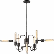 ELK 31991-8 Transit Contemporary Silvered Graphite Ceiling Chandelier