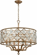 ELK 32097-6 Armand Matte Gold Hanging Chandelier