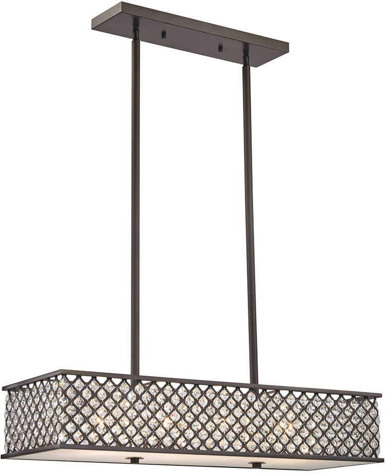 Elk 32103 4 Genevieve Oil Rubbed Bronze Kitchen Island Light Fixture Loading Zoom